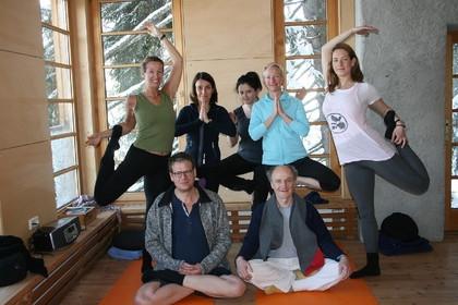 Die wundervolle Yoga-Gruppe im Biohotel Grafenast.