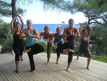 Sarigerme, Türkei . Yoga Schulung des Group Fitness Teams des Robinson Clubs. Sept 2012