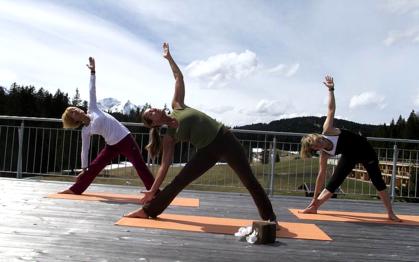 Yoga Workshop 'Yoga und Joggen' im Das Kranzbach Mai 2012
