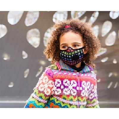masque anti pollution enfant noir