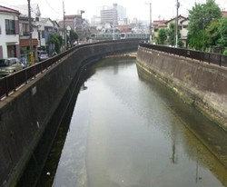▲(散布後)悪臭が無く、水質が浄化された河川