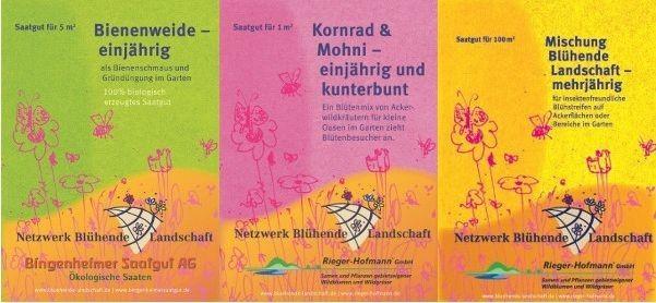 Blühmischungen vom Netzwerk Blühende Landschaft
