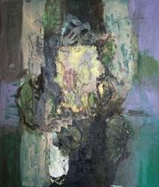 Im Werden, 2014, Mischtechnik auf Leinwand,  140 x 120 cm
