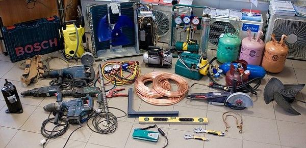 Инструменты для работы с кондиционером