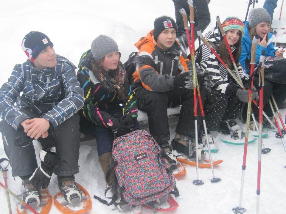 Franzi, Kathi, Martin, Jodschi und Hanna...on their way to North Pole