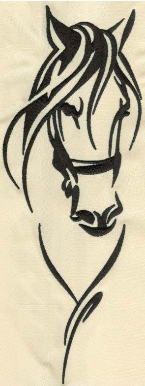 Pferd_01 / 2.5cm x 6cm oder 11cm x 28cm