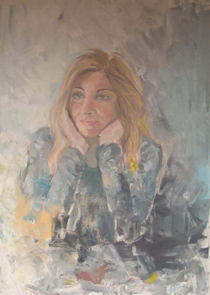 Alessandra, olio su tela 50x70cm