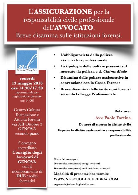 Convegno NL Scuola Giuridica Genova