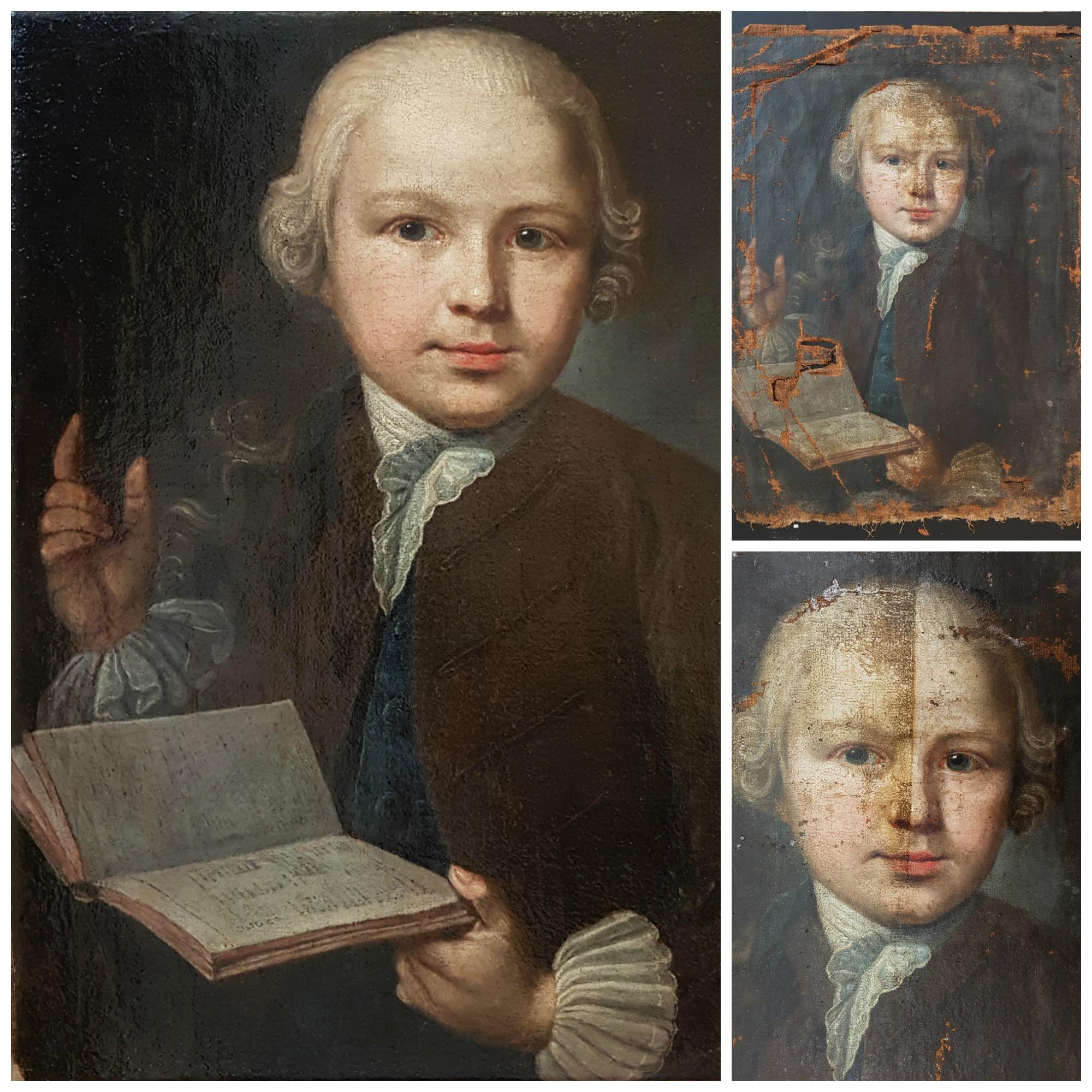 Wir restaurieren Ihre Gemälde: Restaurierungsbeispiel (VORHER-NACHHER)