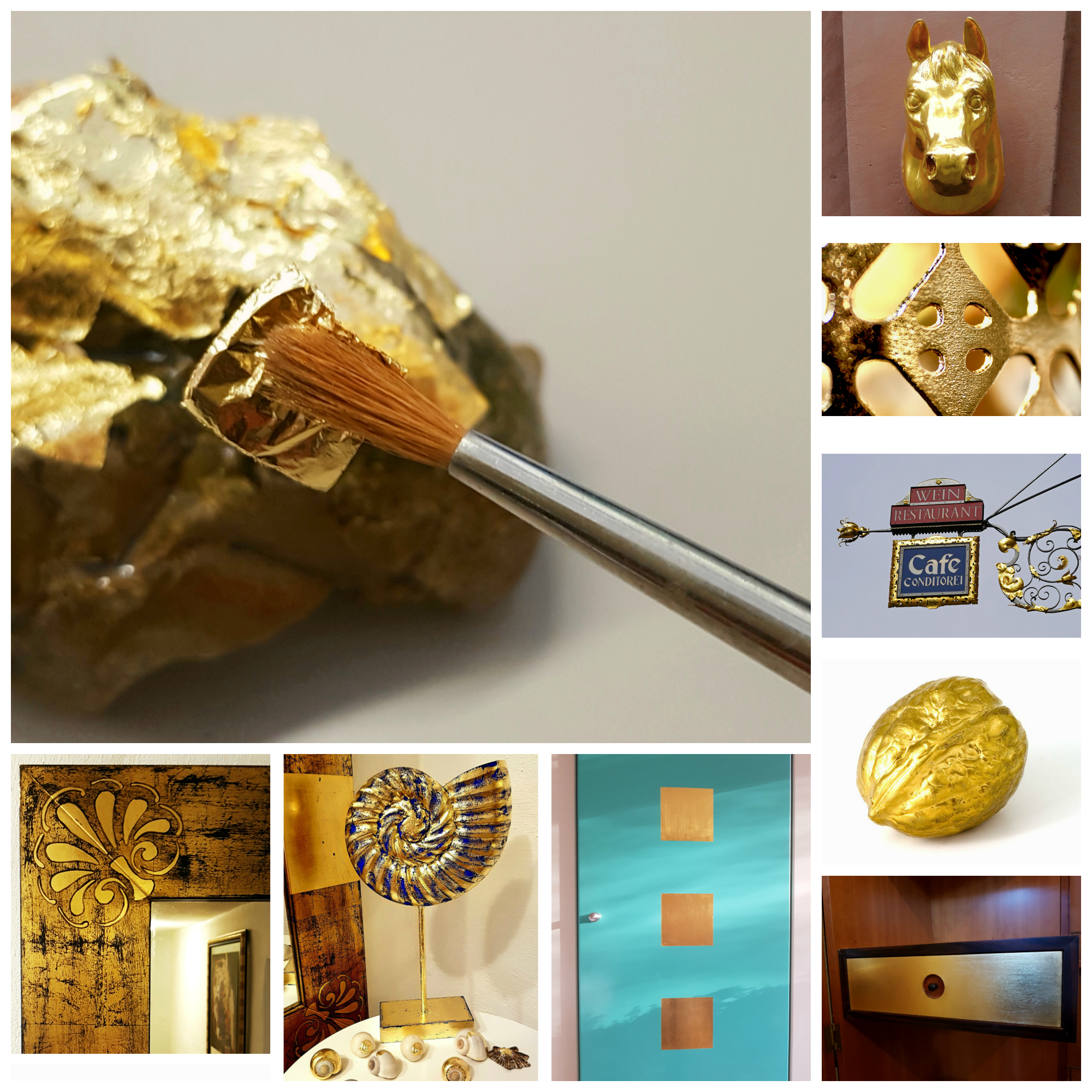Wir machen Vergoldungen mit Blattgold