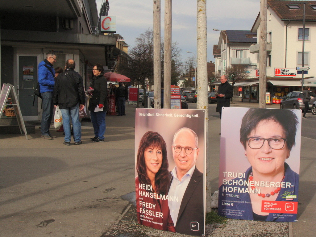 Die Strassenaktion in Wattwil