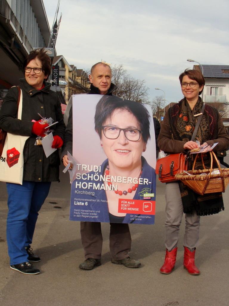 Trudi Schönenberger, Bruno Facci und Petra Kohler