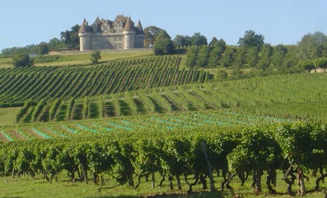 Château de Monbazillac  dans son écrin de vignes