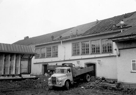 Die Flieger beim Abriss der alten Stadthalle