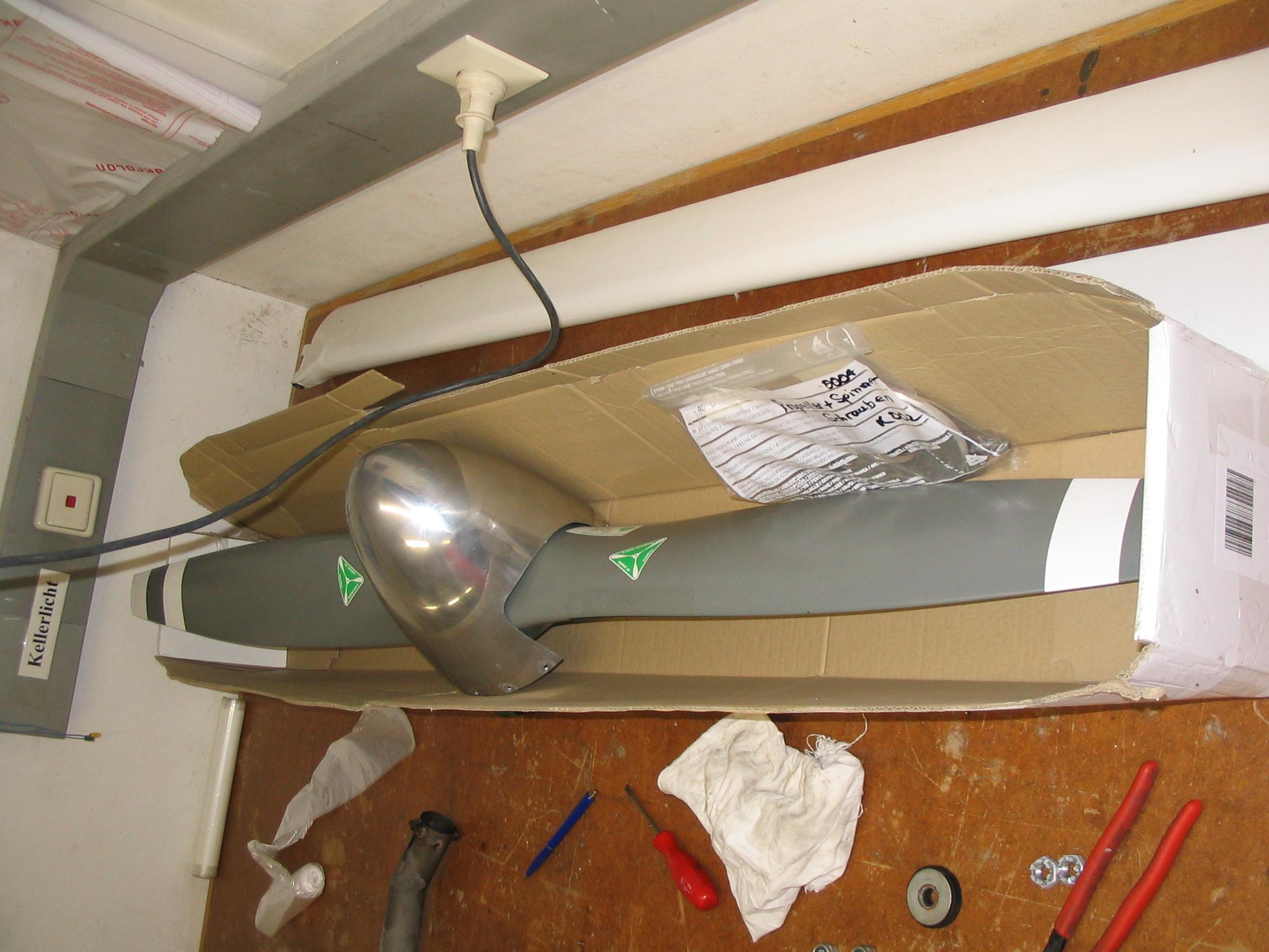 der Propeller wurde nach Holland verkauft