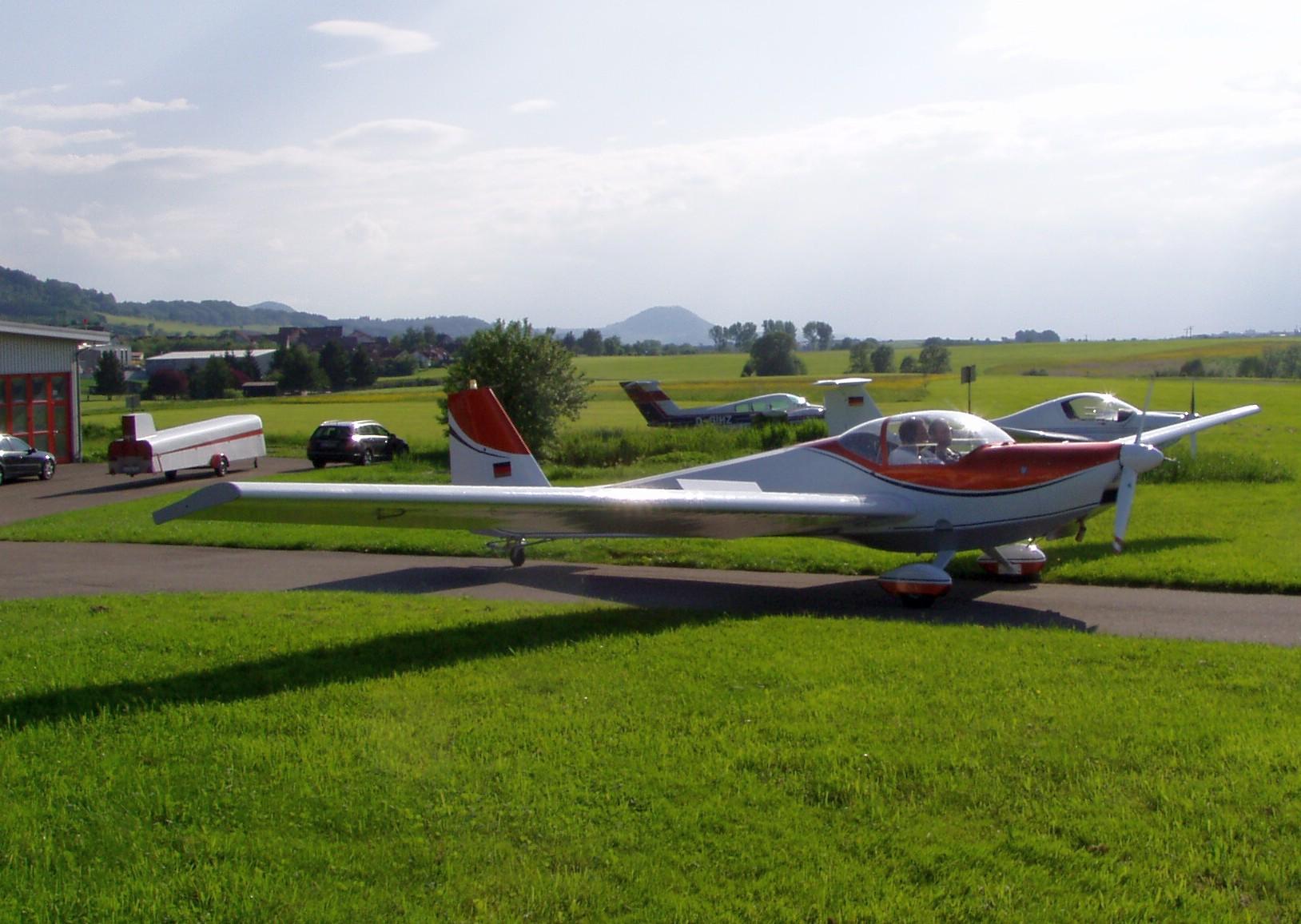 Rollen zum Werkstattflug