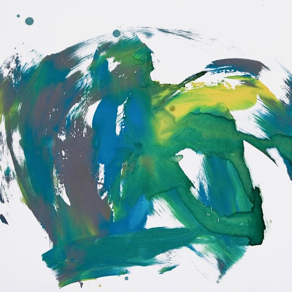 Tilda 0047, 2008, Fingerfarbe auf Leinwand, 80 x 80 cm