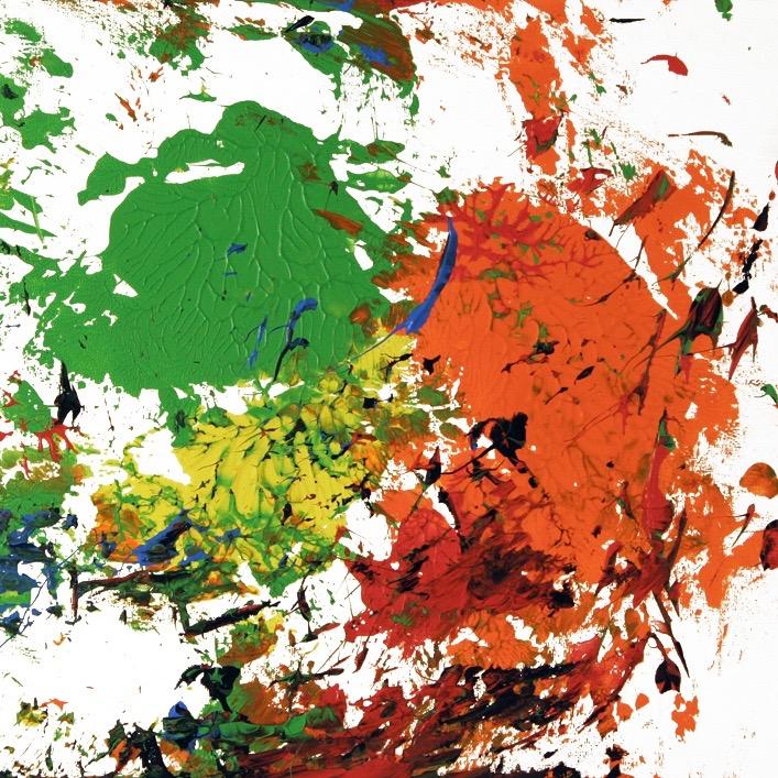 Barito 0330, 2014, Fingerfarben auf Leinwand, 40 x 50 cm