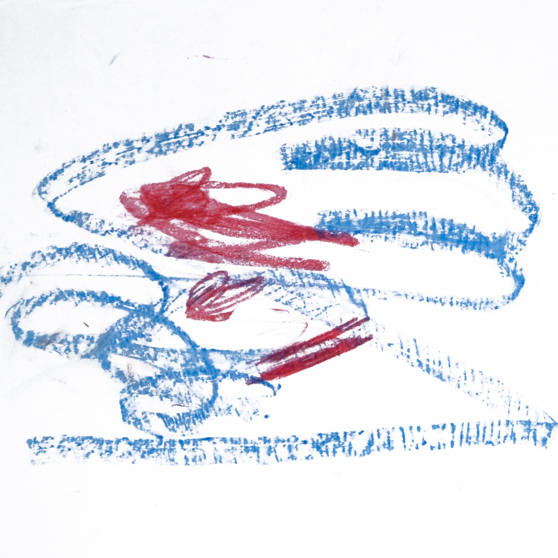 Sita 0193, 2009, Wachsmalstift auf Papier, 45 x 61 cm