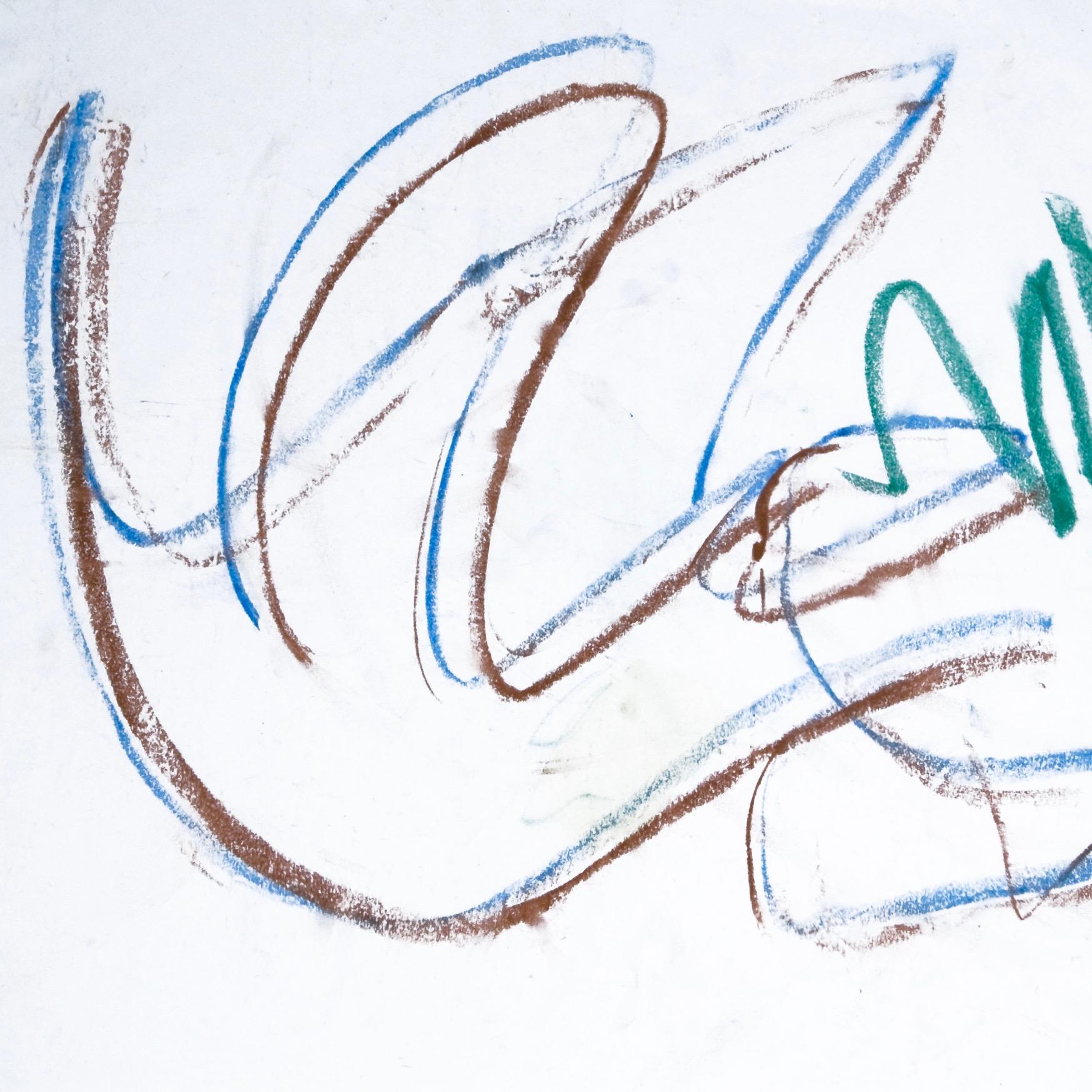 Sita 0198, 2009, Wachsmalstift auf Papier, 45 x 61 cm