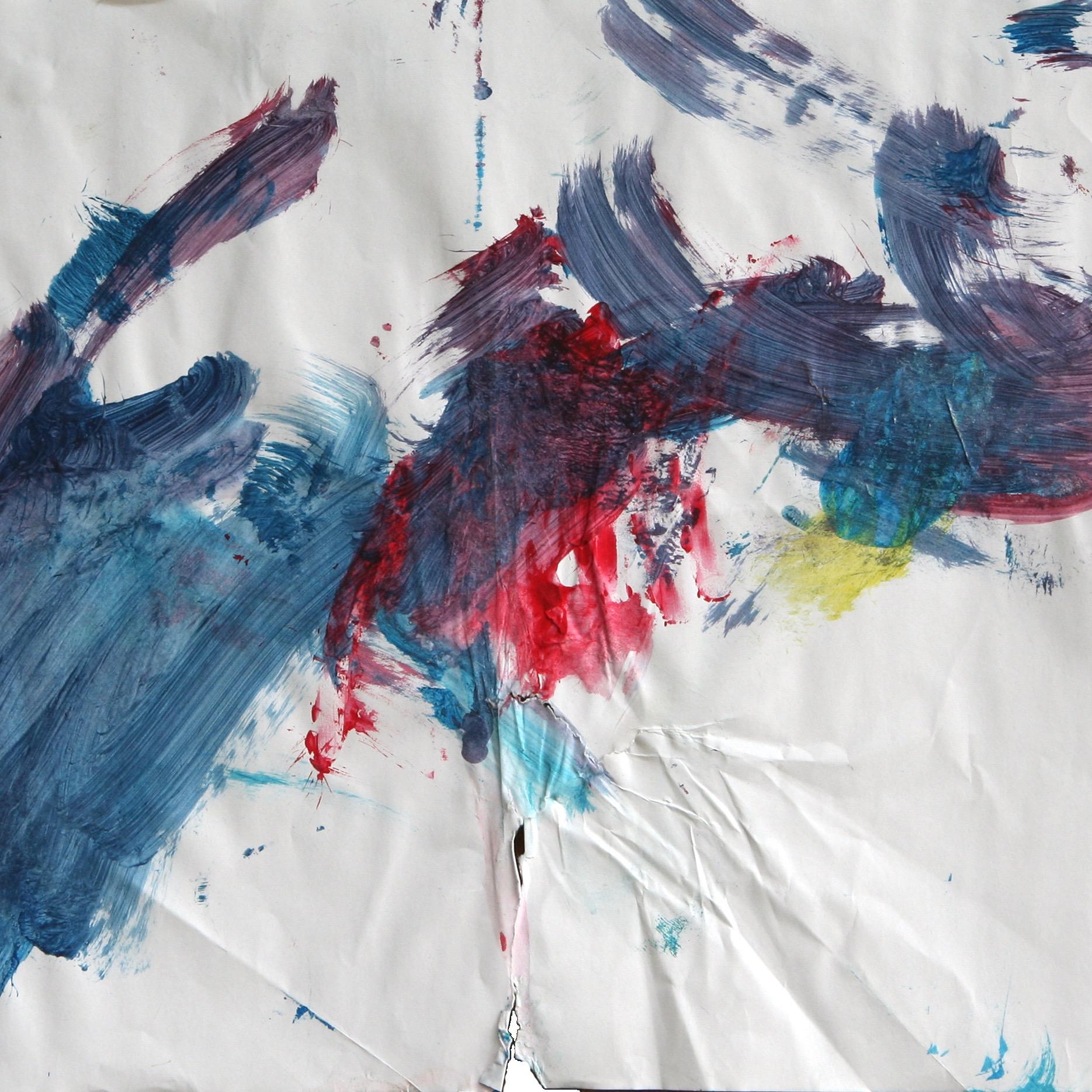 Sandra 0116, 2006, Fingerfarbe auf Papier, 42 x 56 cm