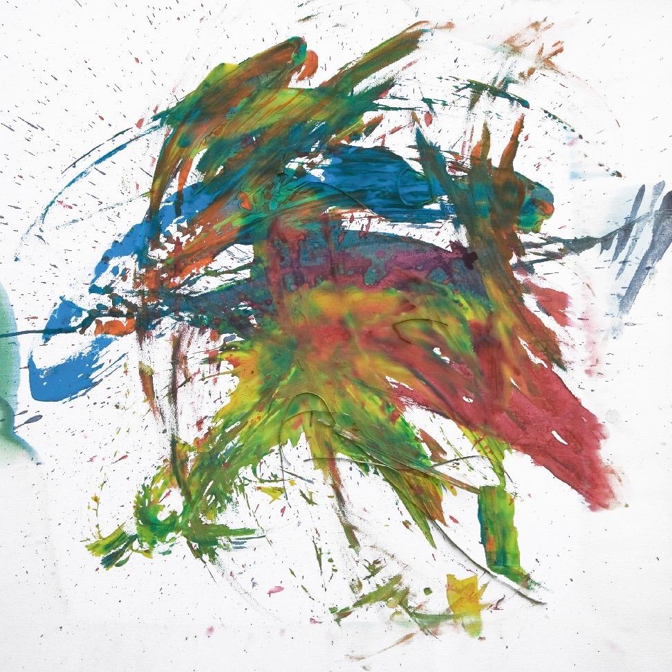 Tilda 0045, 2008, Fingerfarbe auf Leinwand, 80 x 80 cm