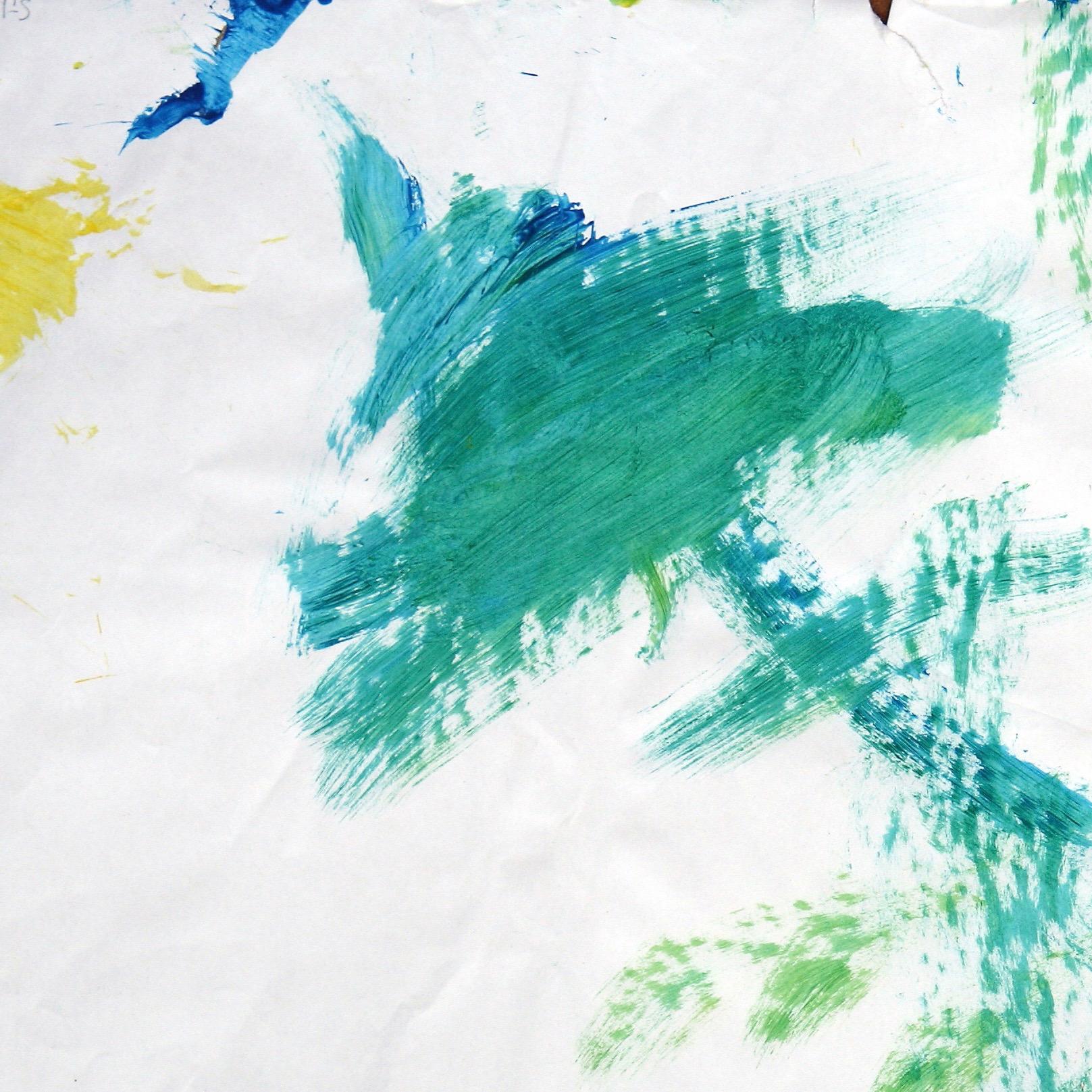 Sandra 0008, 2006, Fingerfarbe auf Papier, 41 x 42 cm