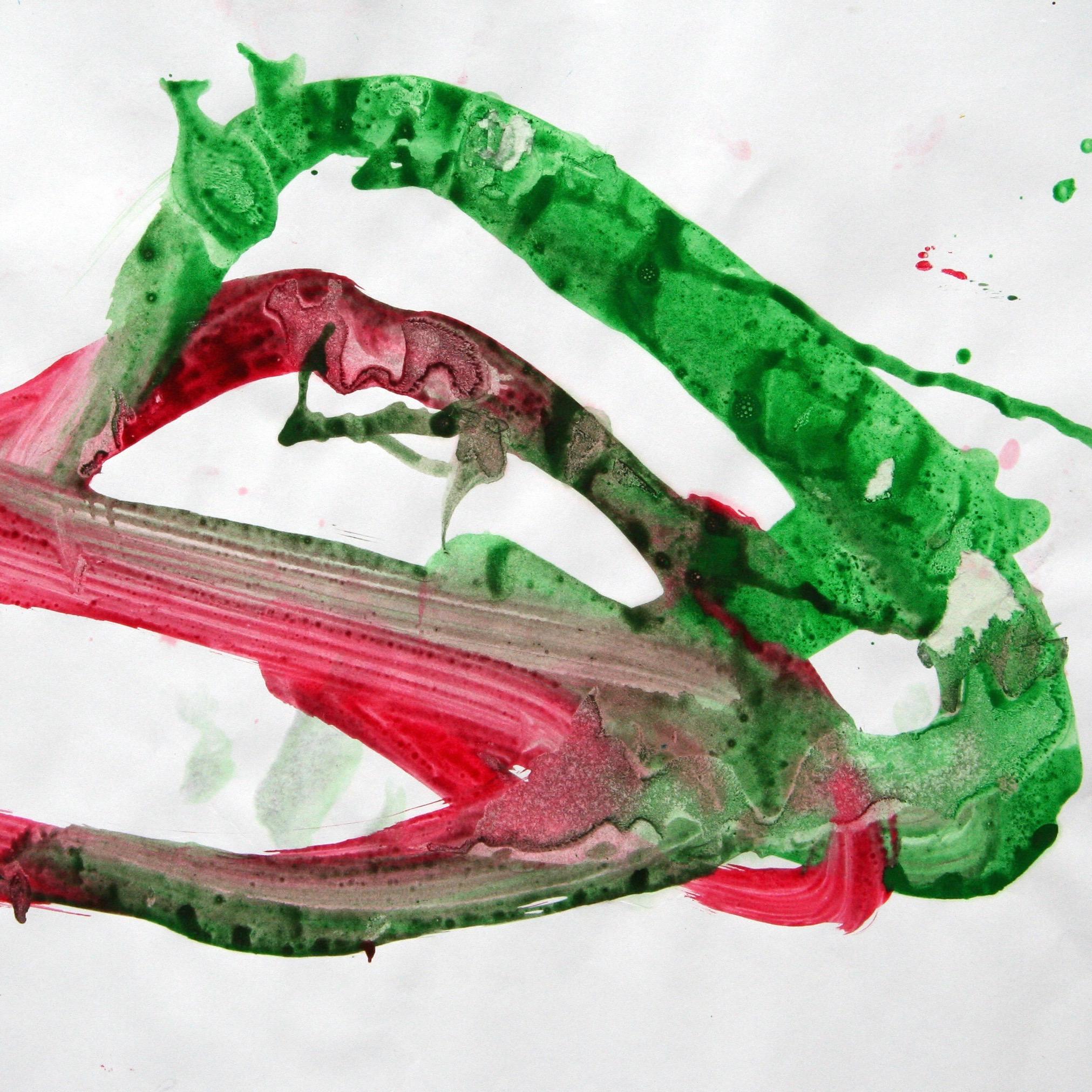 Tilda 0024, 2008, Fingerfarbe auf Papier, 31 x 45 cm