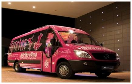 disco bus rosa