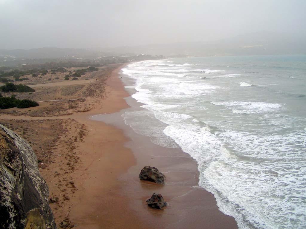 Winteransicht Finikounda Strand