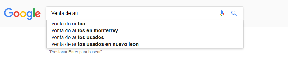 autocompletador de google