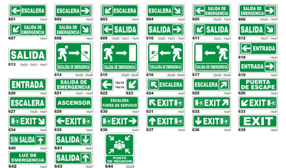 señaletica ruta evacuacion cotizacion
