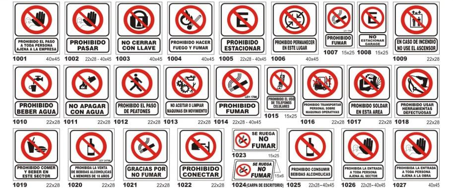 señaletica de prohibicion