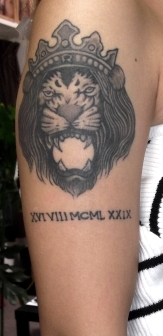 ライオンのタトゥー