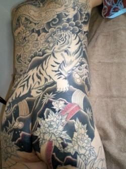 総身彫り、刺青和彫り