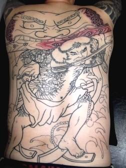 水滸伝張順の水門破り、刺青和彫り