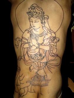 普賢菩薩の刺青和彫り