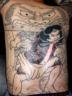 水滸伝、張順の水門破り刺青、和彫り