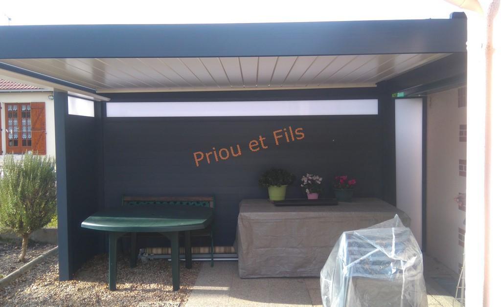 pergola bioclimatique, à lames orientables, Priou et Fils, 41700 Contres, Blois, Loir et Cher