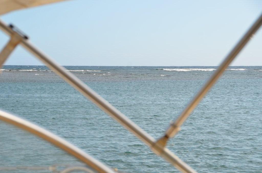 ankern hinter dem Riff