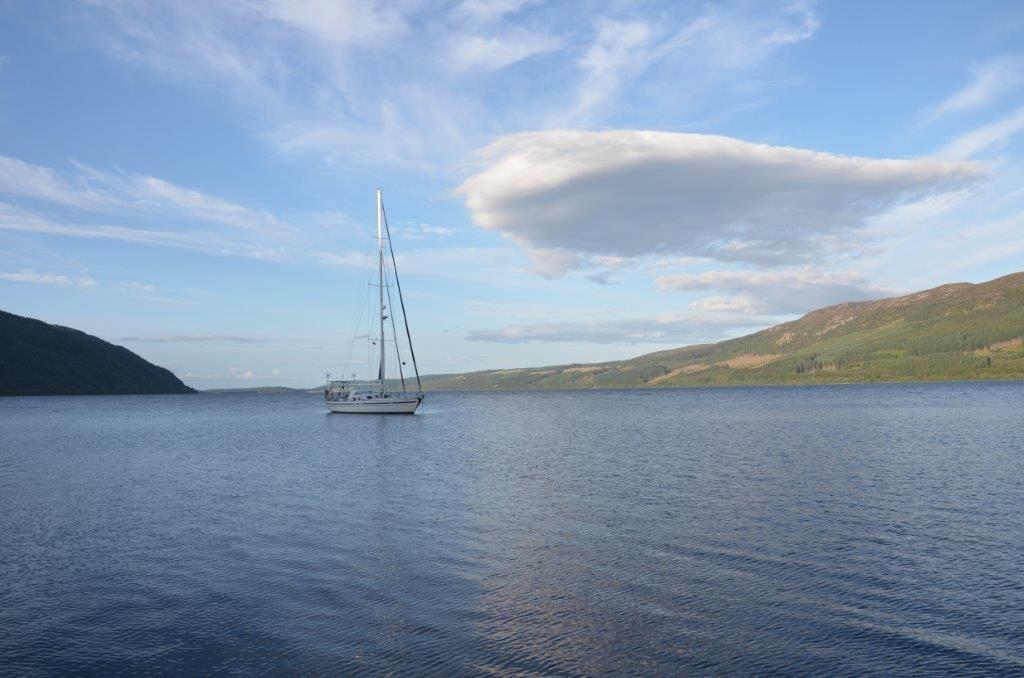 ankern im Loch Ness