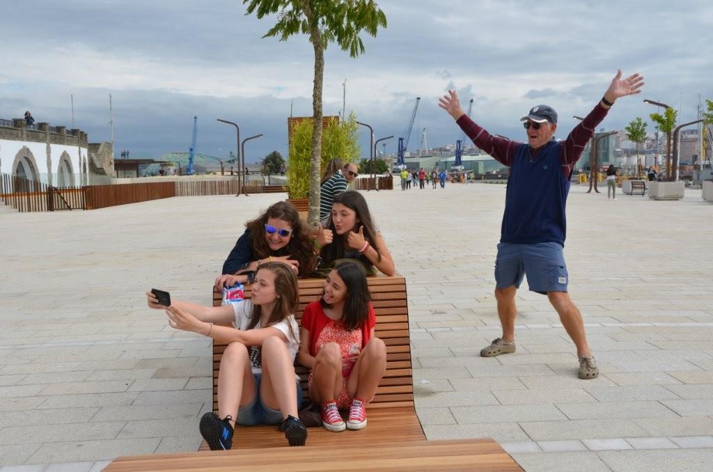 """""""Selfie"""" John an der Hafenpromenade La Coruna"""