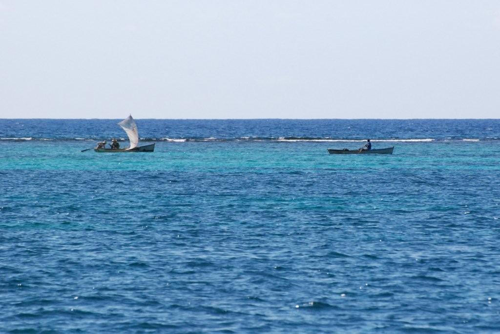 Fischer im Riff