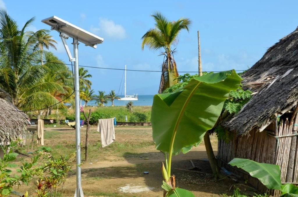 Solarpanele, gesponsert von Panamas Regierung