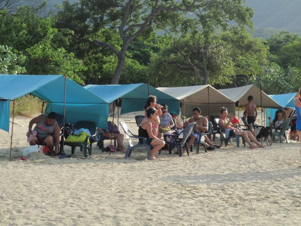 Strandleben in der Bahia Concha