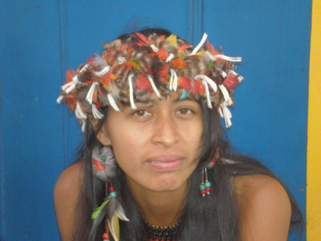 Indianermaedchen in Paraty