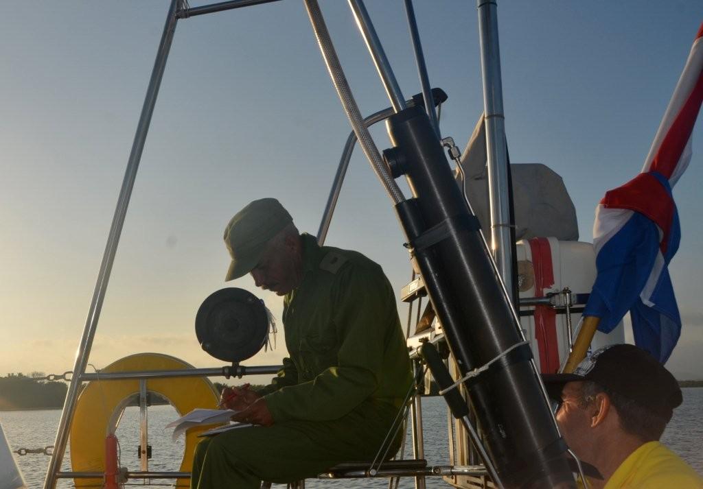 Port Control an Bord von Meerlust