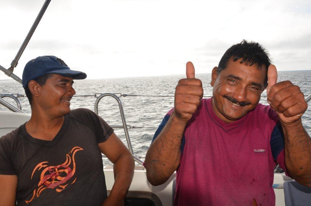 Fischer-Brueder an Bord von Meerlust