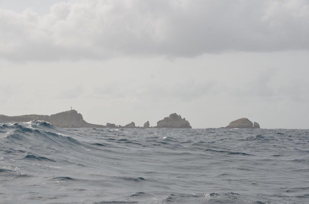 stuermischer Atlantik, Ostkueste Guadeloupe
