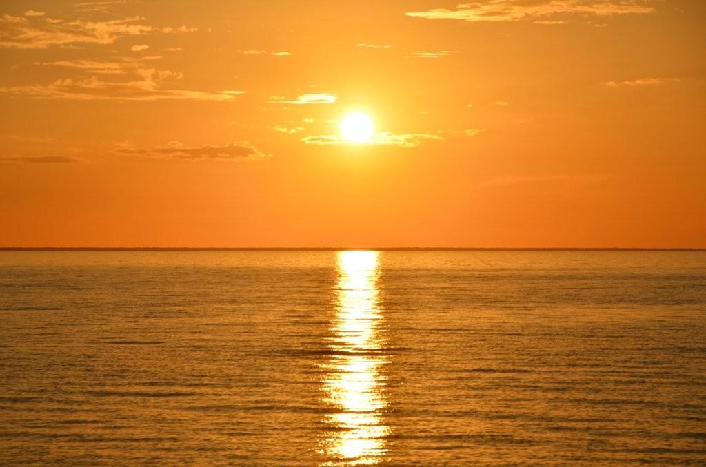 Sonnenuntergang vor Cayo Juventud